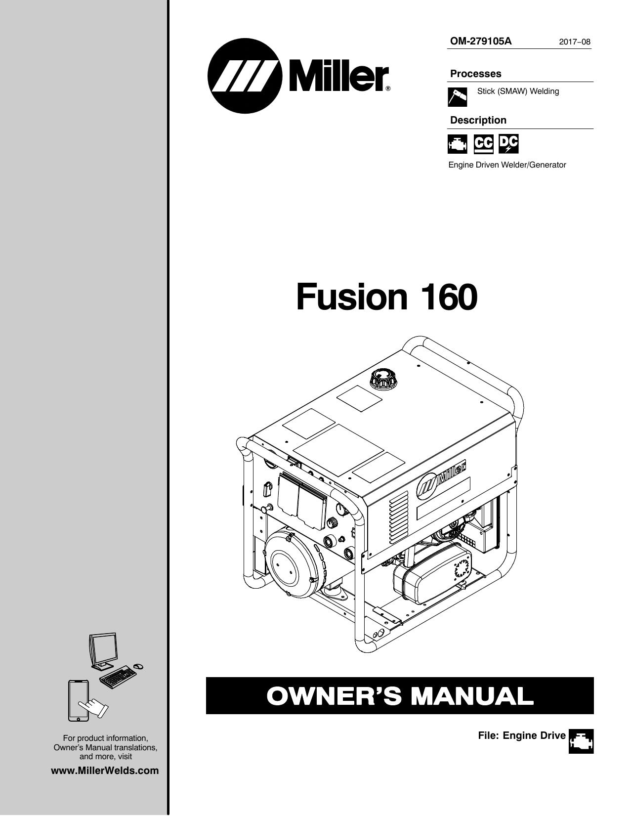 Miller FUSION 160 User manual   Manualzzmanualzz