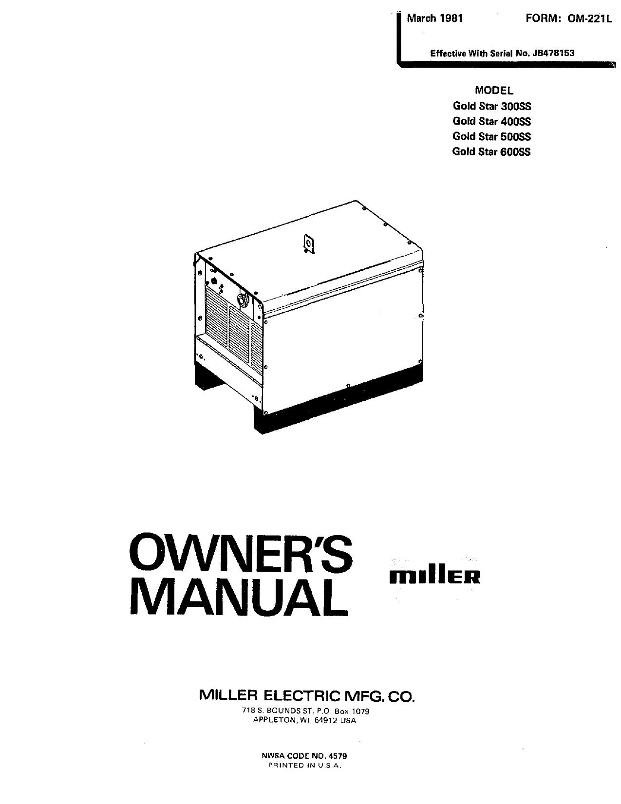 Miller JB40 Owner's manual   Manualzz
