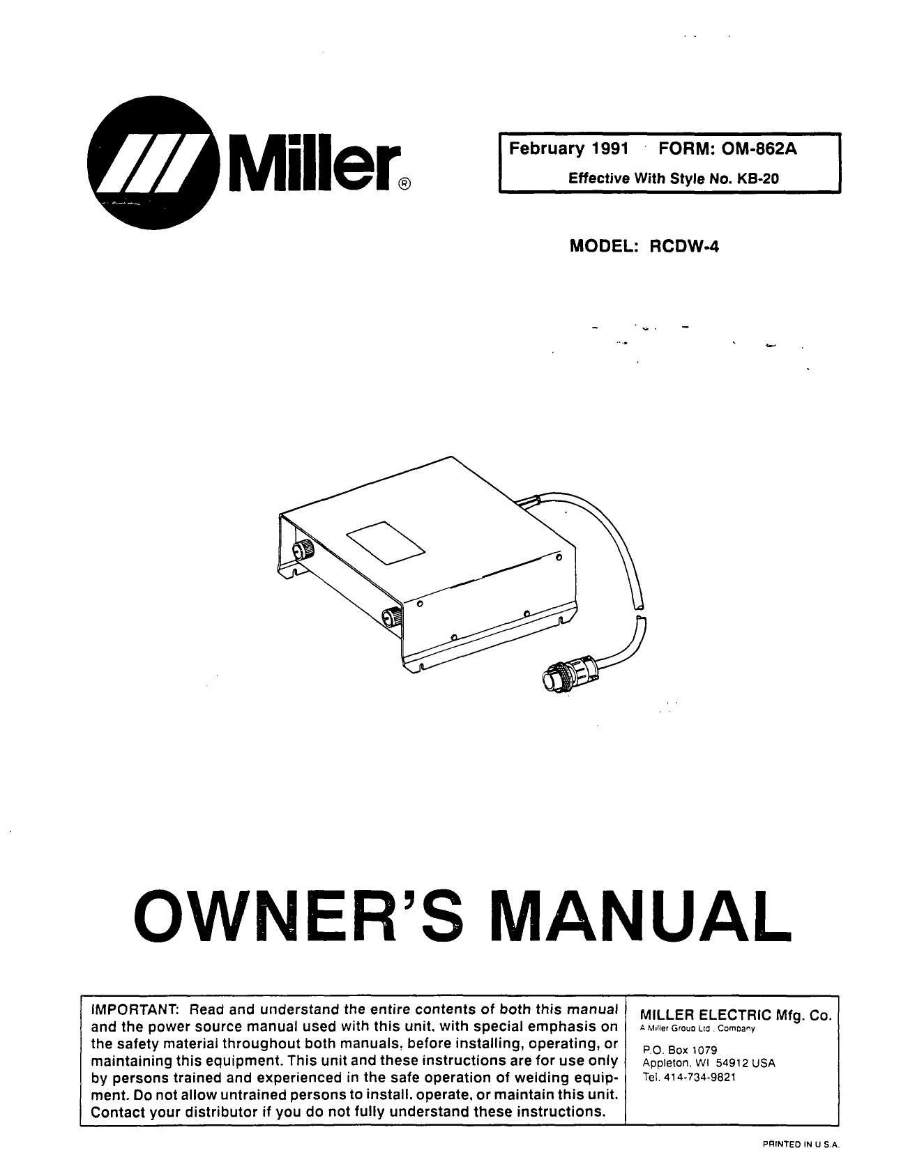 Miller 072462 POTENTIOMETER,W//SHAFT LOCK