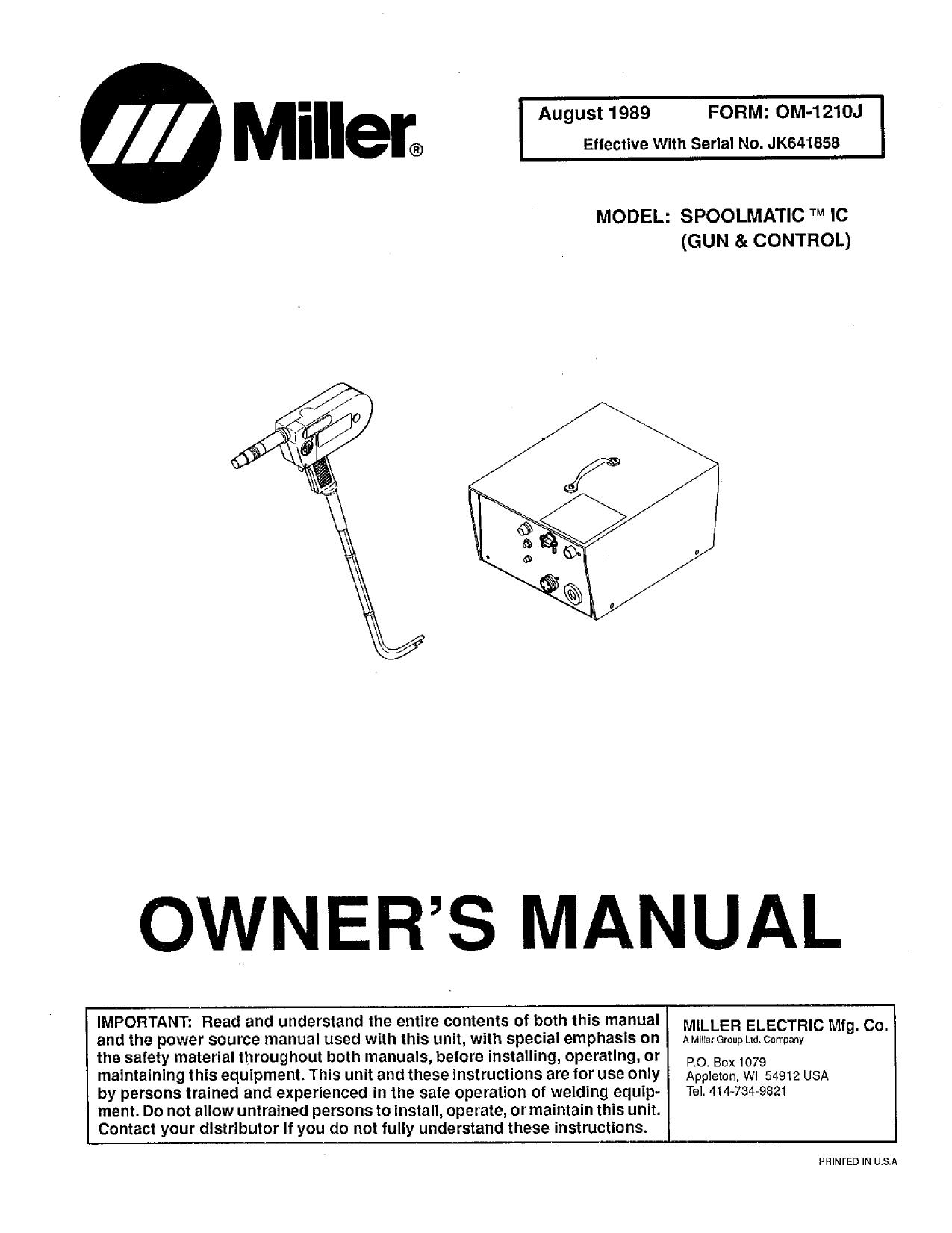Miller JK40 Owner's manual   Manualzz