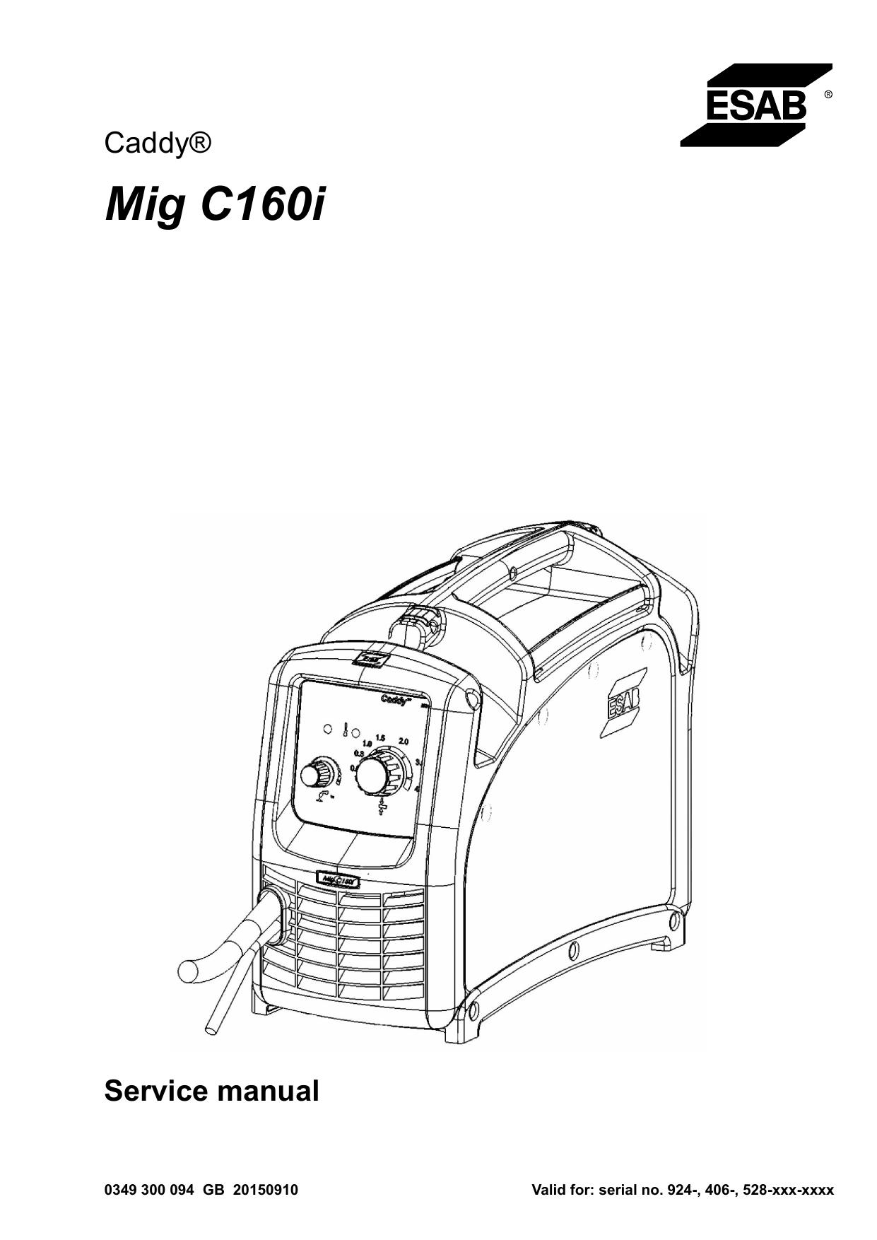 Esab Mig C160 Caddy C160i User