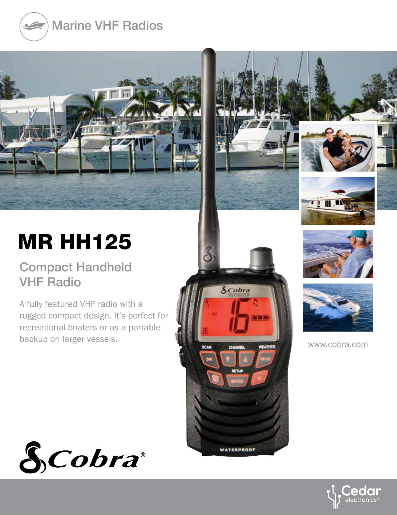 Cobra Mr Hh125 Specification Manualzz