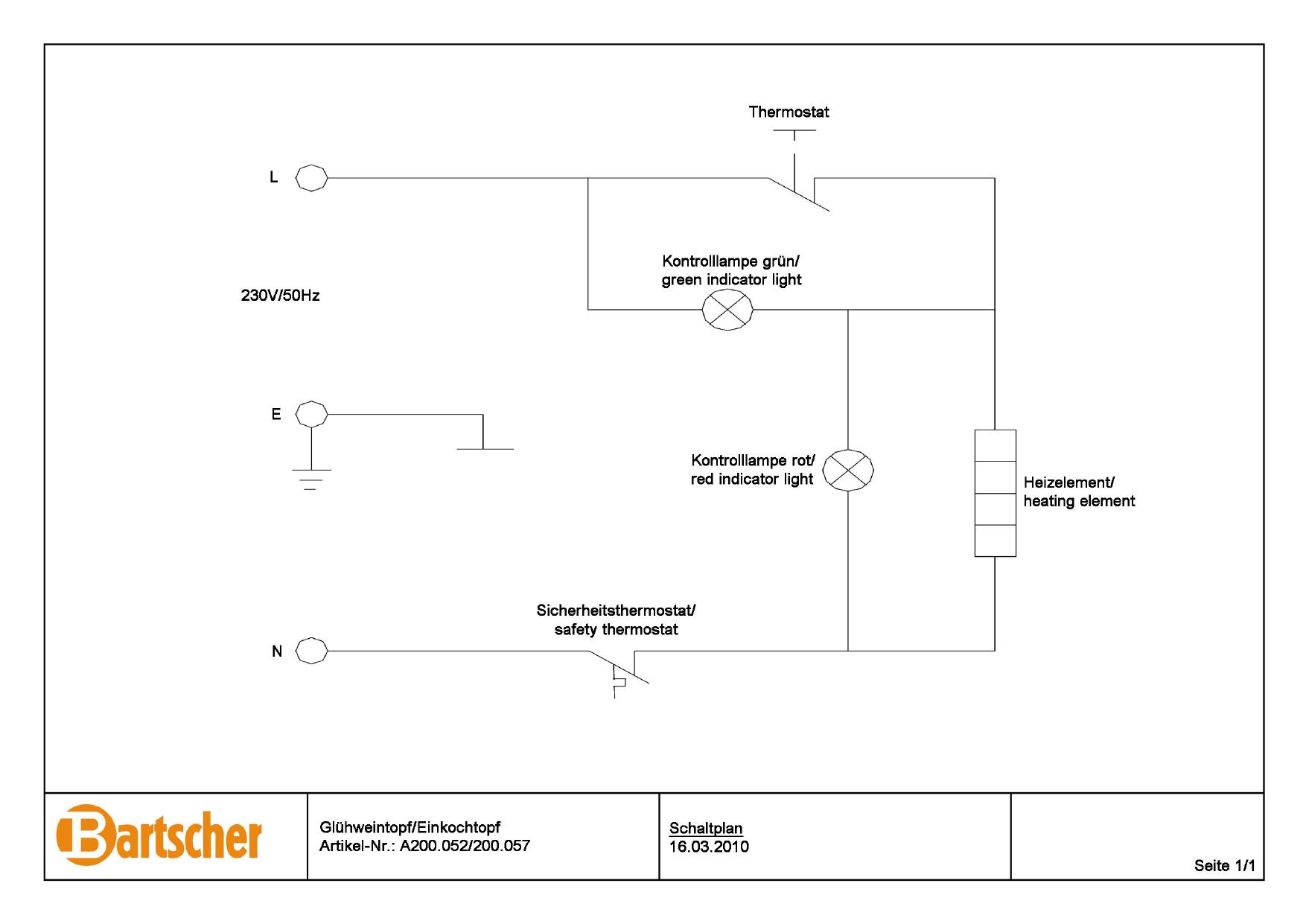 Bartscher A200052 Mulled Wine Pot  Bl W  Canner25l Ss