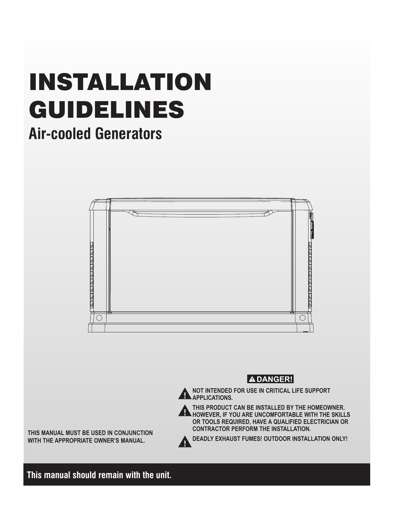 Generac 15 Kw 0062810 Standby Generator Manual Manualzz