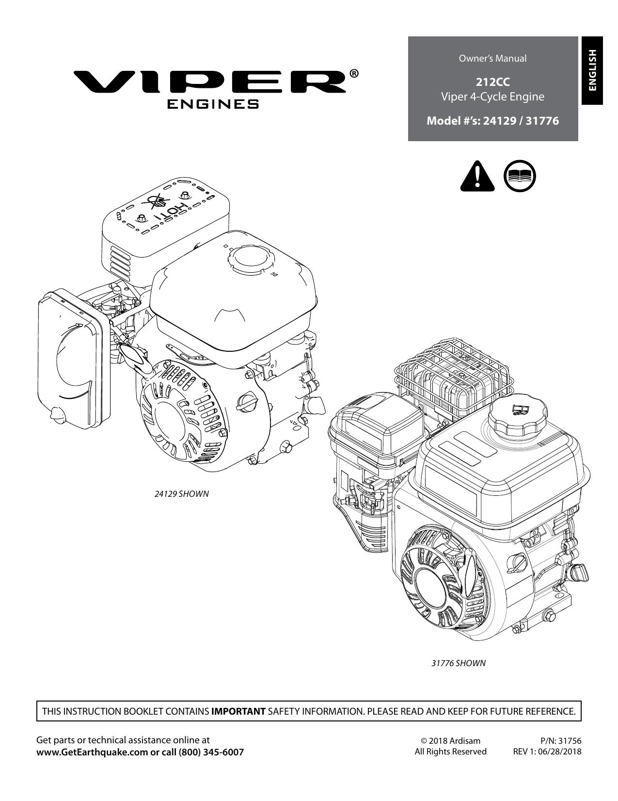 PERFORMANCE CARBURETOR FOR EARTHQUAKE CHIPPER SHREDDER VIPER ENGINE MOTOR 196CC