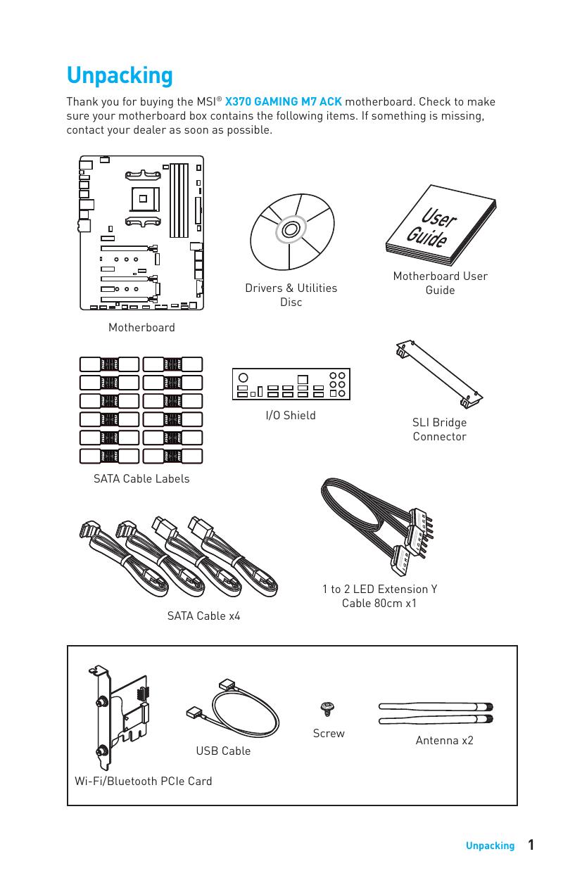 Msi X370 Gaming M7 Ack User Manual Manualzz