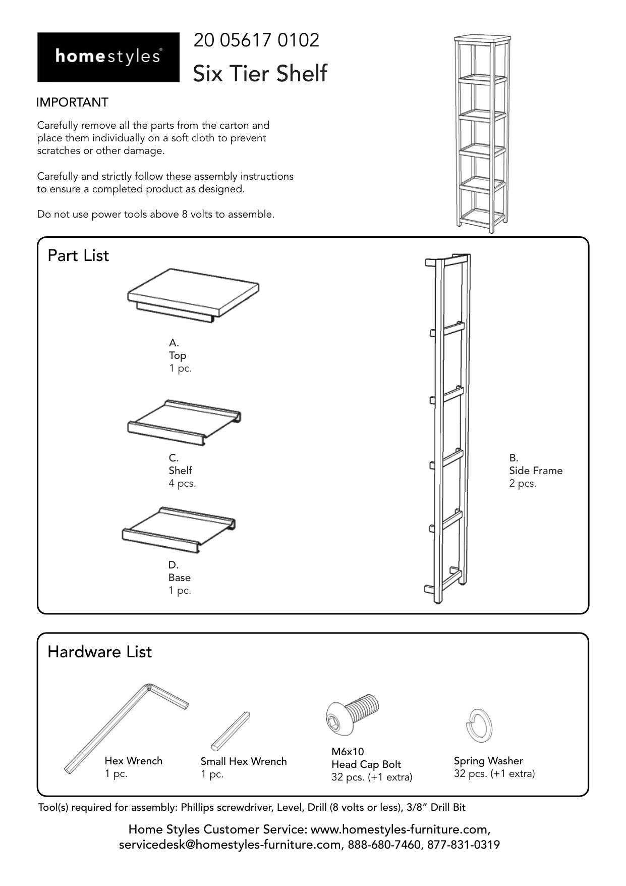 Frigidaire 241616607 Shelf Manual Guide