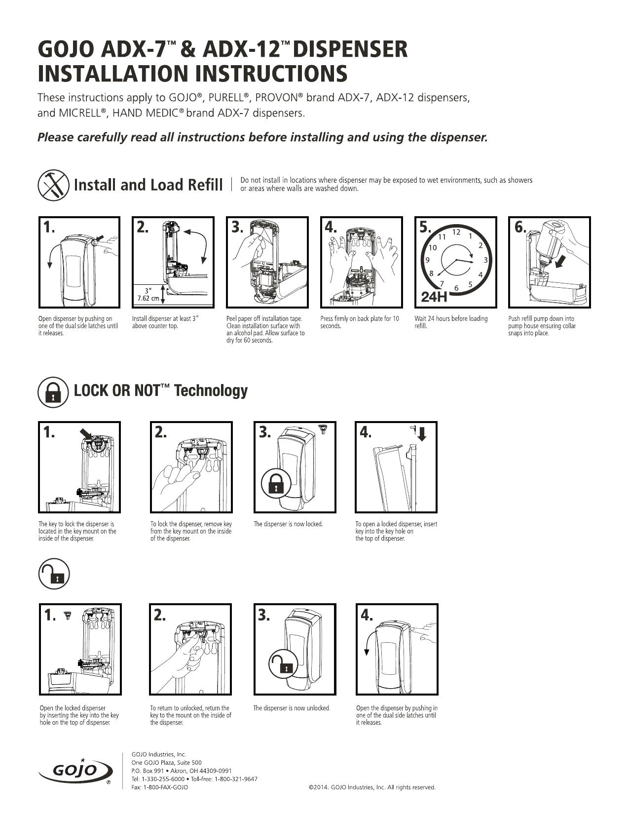 Sapphire Manual Soap Dispenser Manual Guide