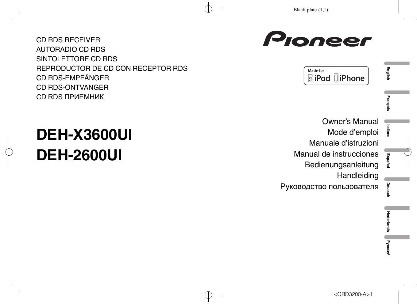 Pioneer Deh X3600ui Manual De Usuario Manualzz