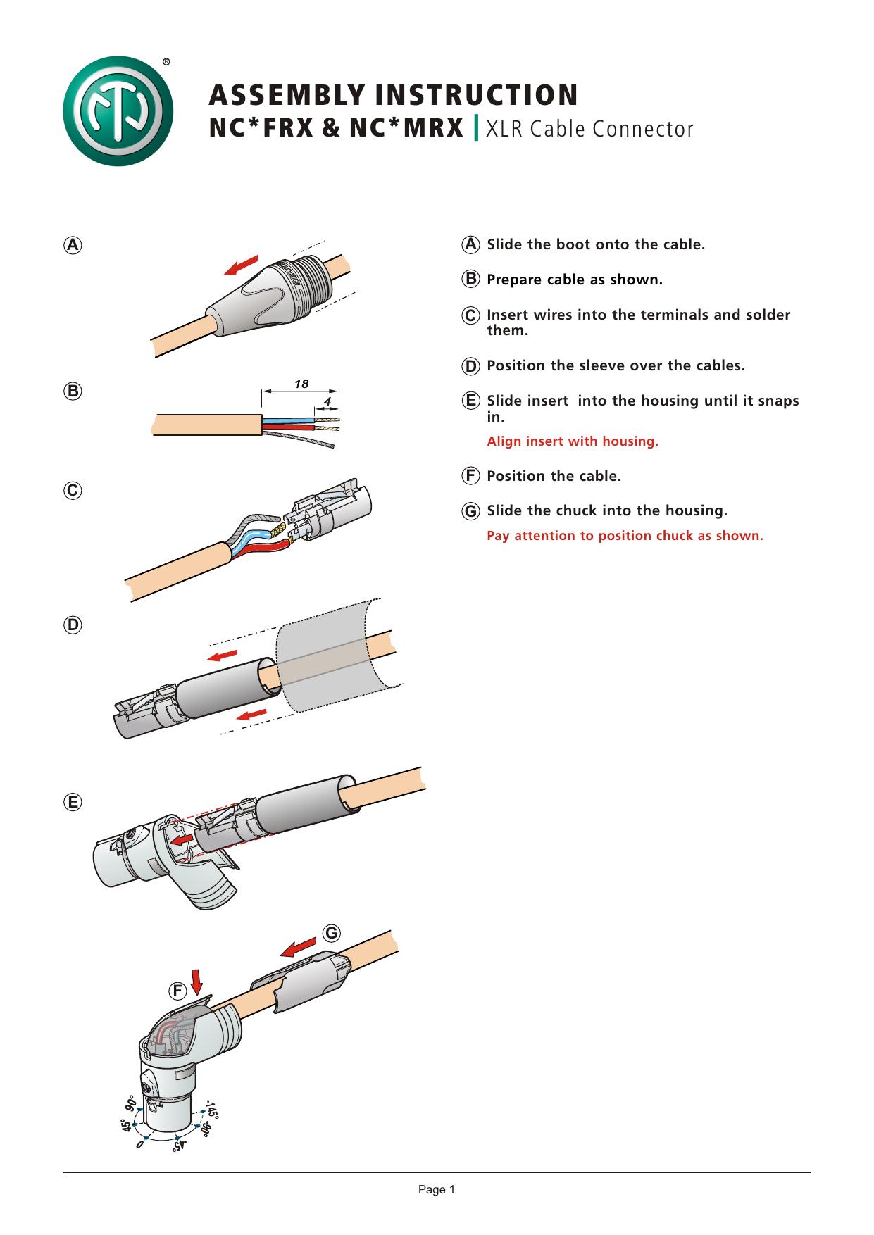Neutrik NC3MRX-BAG XLR Nero cavo di collegamento