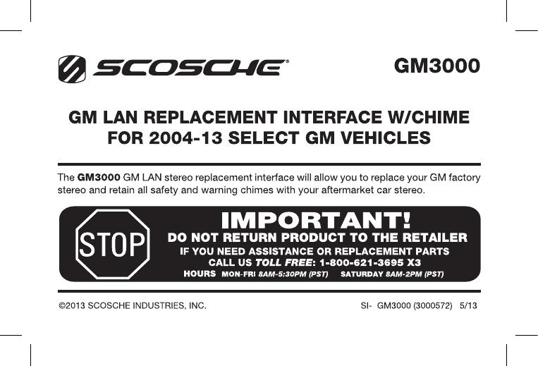 scosche gm3000 user manual  manualzz