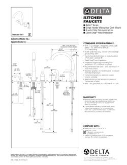 Delta 11946 Sssd Dst Installation Guide Operating Instrustions User Guide User Manual