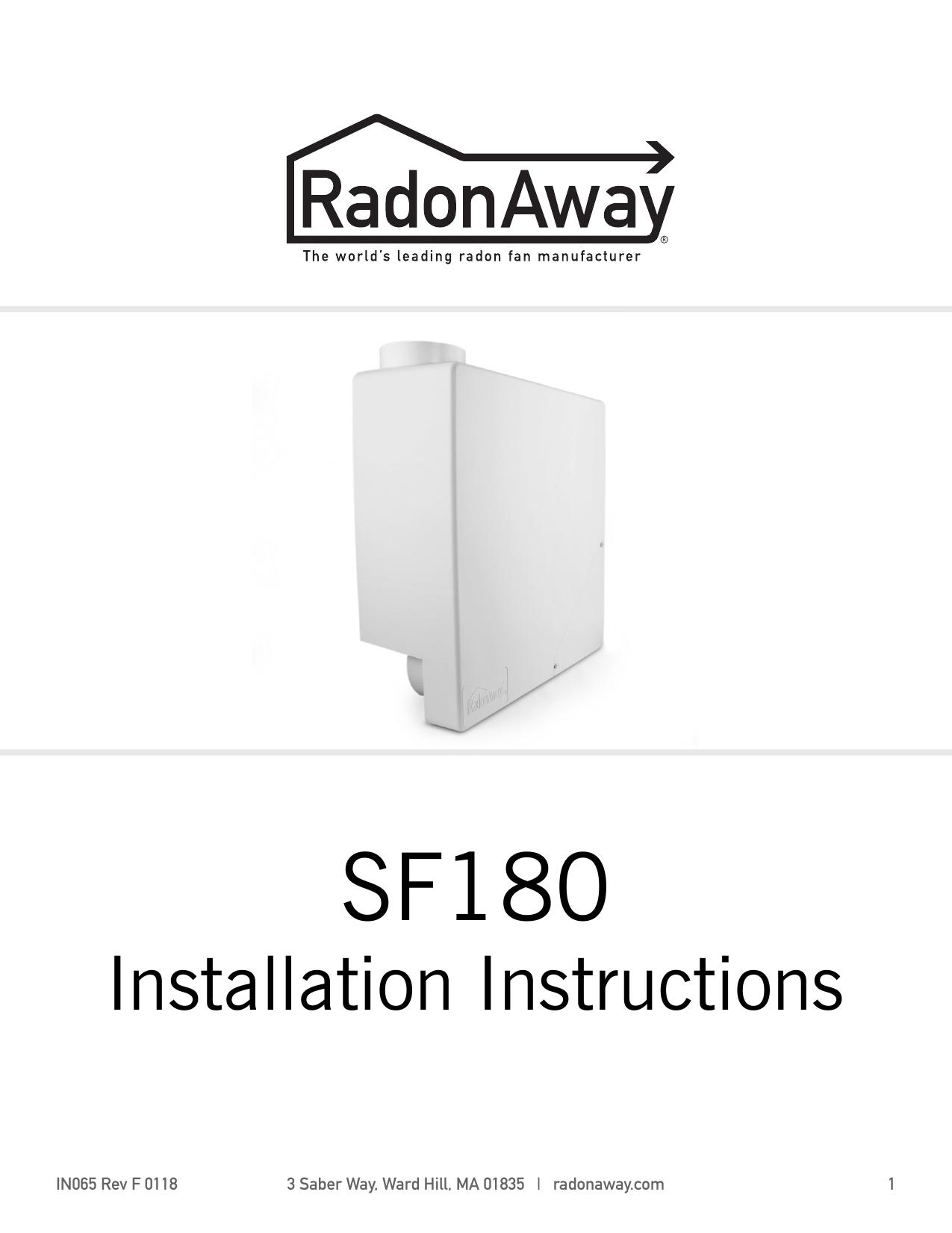 Radonaway 28317 Installation Guide Manualzz