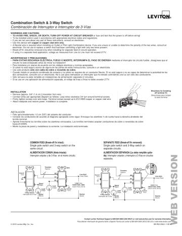 Leviton 5641 Is Decora 15 Amp 3 Way Ac, Leviton Wiring Diagram 3 Way Switch