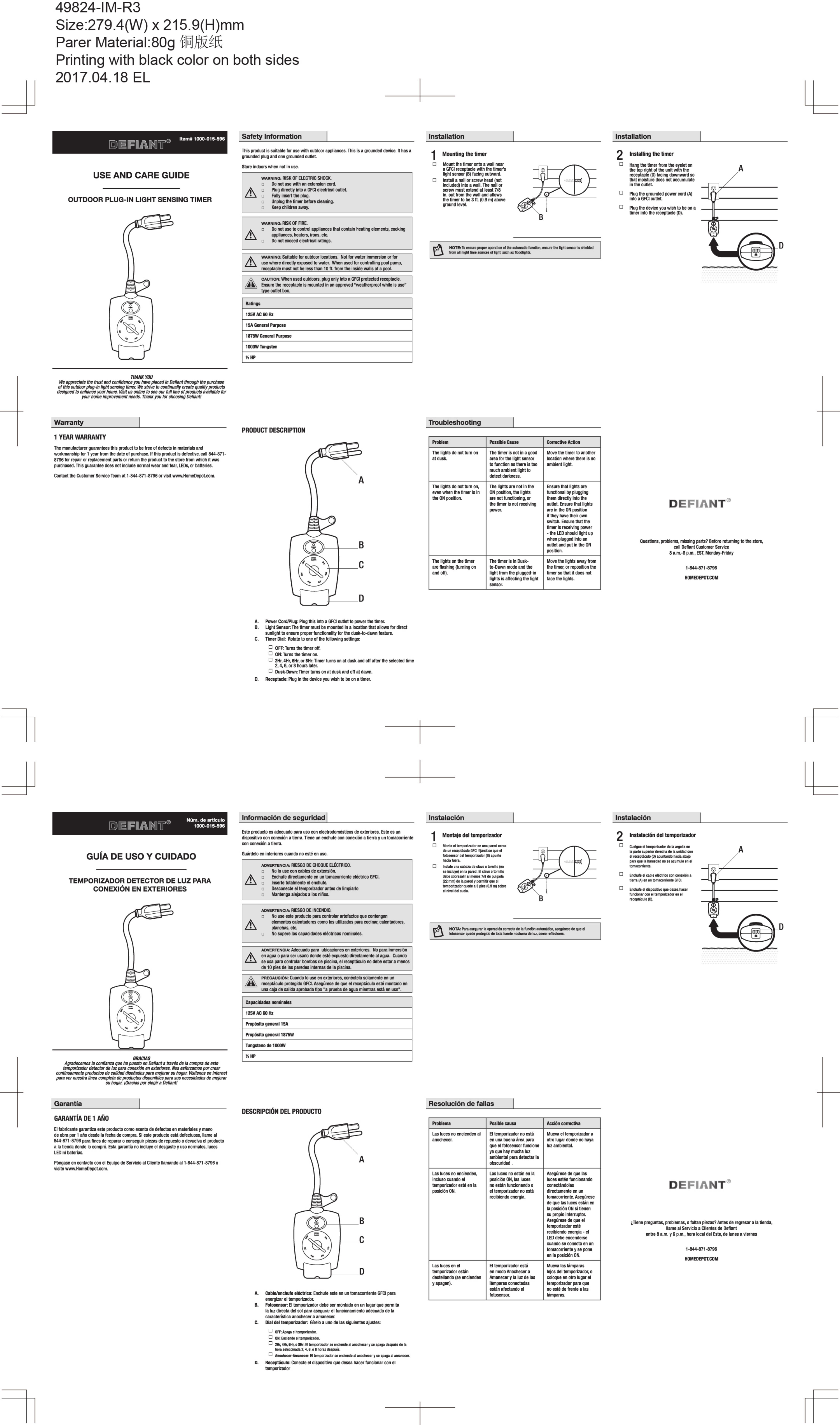 Intermatic St01 15 Amp 24 Manual Guide