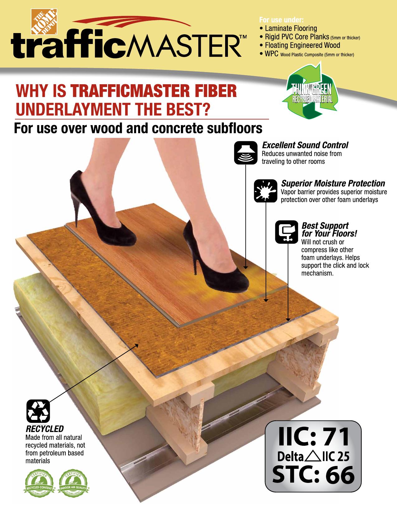Vapor Barrier For Laminate Flooring, Laminate Flooring With Moisture Barrier Attached
