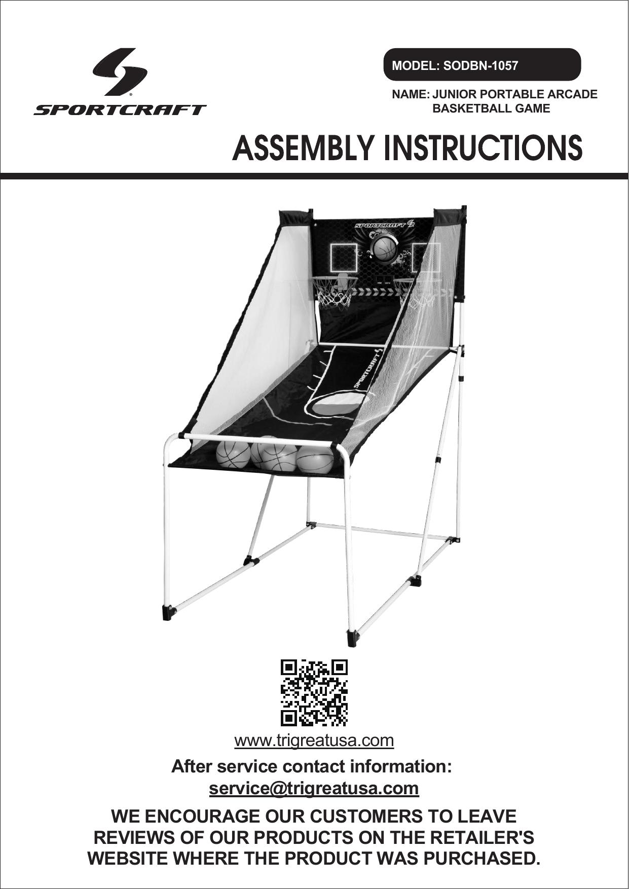 Sportcraft SODBN-1057 Junior Foldable Basketball Arcade Game for sale online