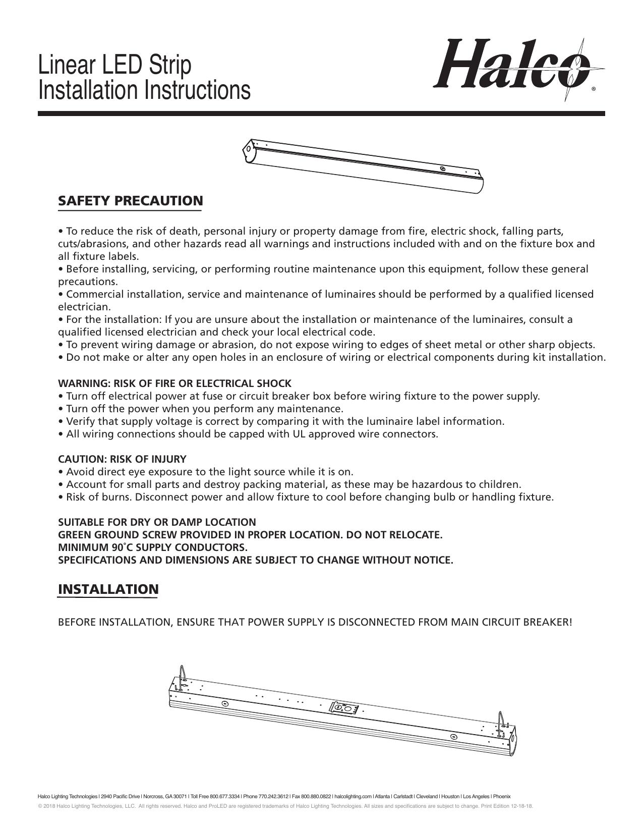 Halco Lighting Technologies Ls4 36u50 10241 Installation Guide Manualzz