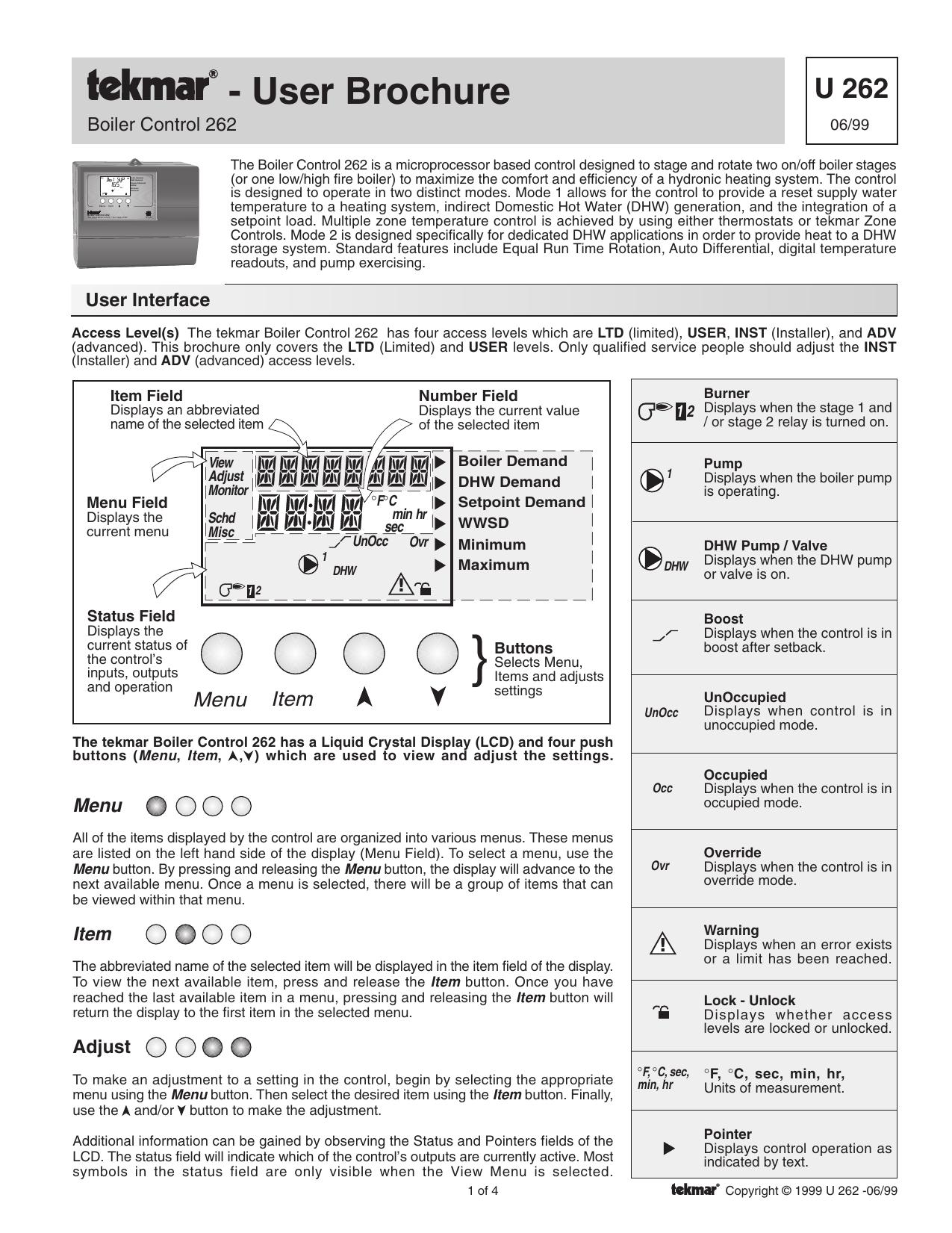 Details about  /Tekmar 251 Boiler Control