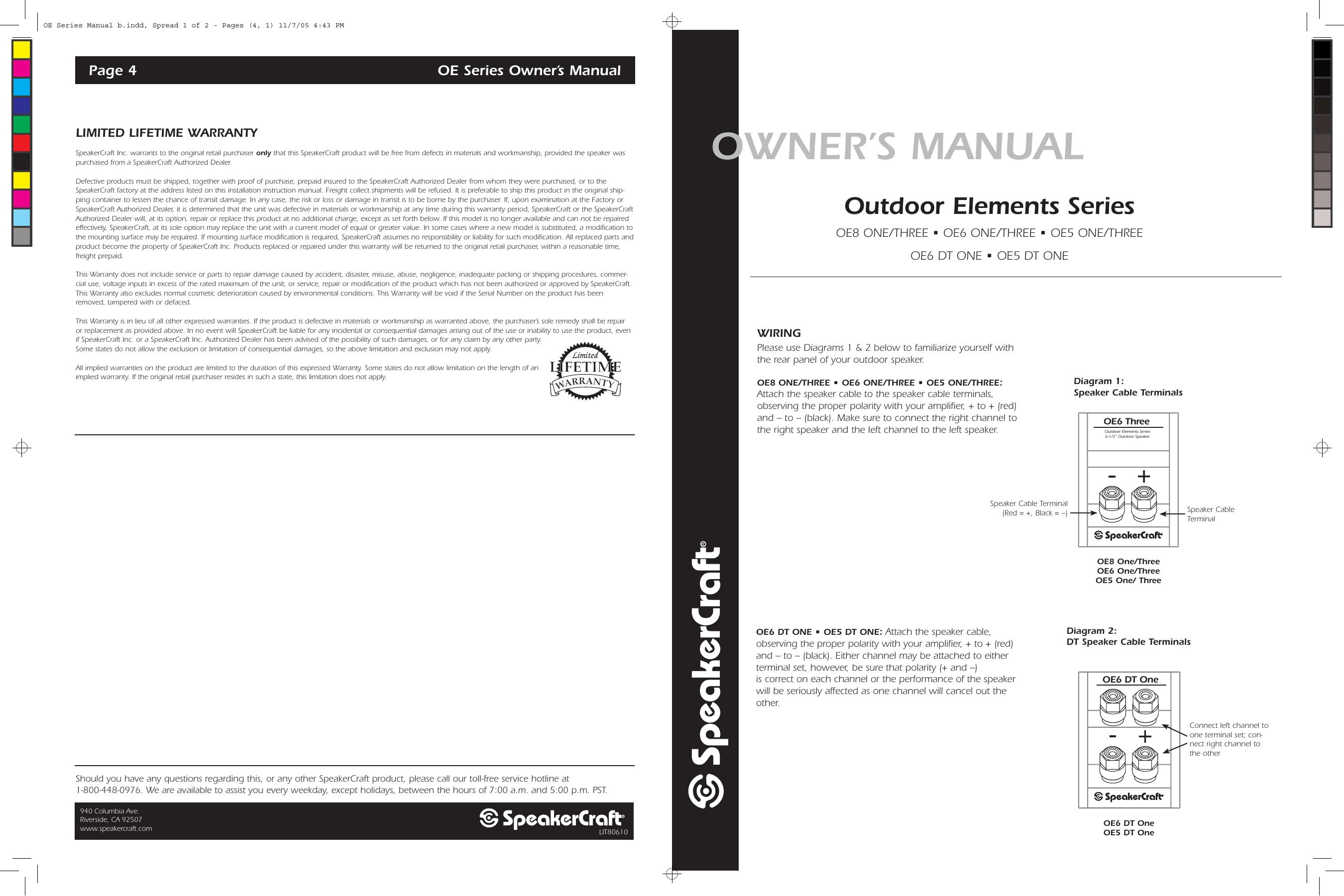SpeakerCraft OE8 Three White Owner's manual | Manualzz | Speakercraft Wiring Diagram |  | Manualzz