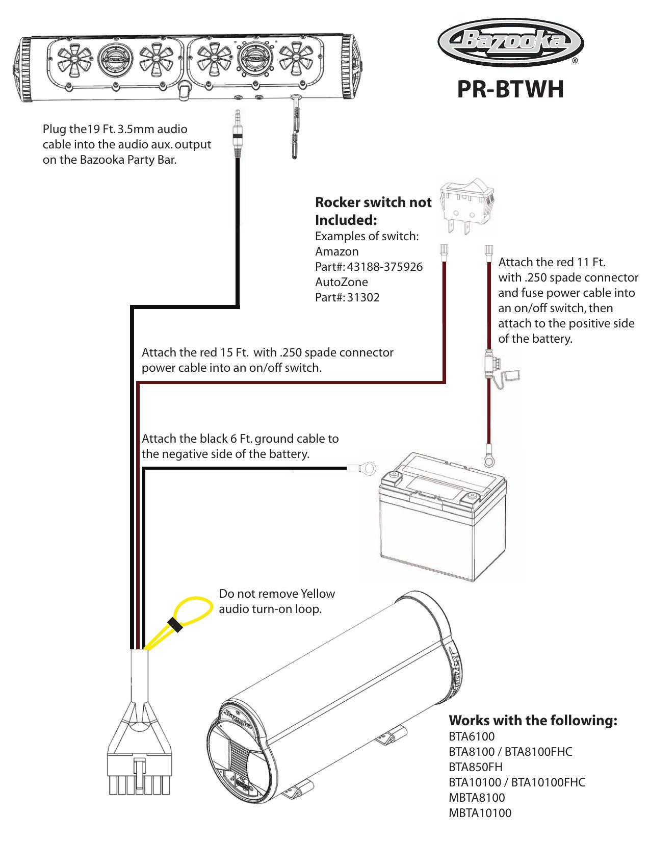 Bazooka PR-BTWH Operating instructions | Manualzz | Bazooka Bta8100 Wiring Diagram |  | manualzz
