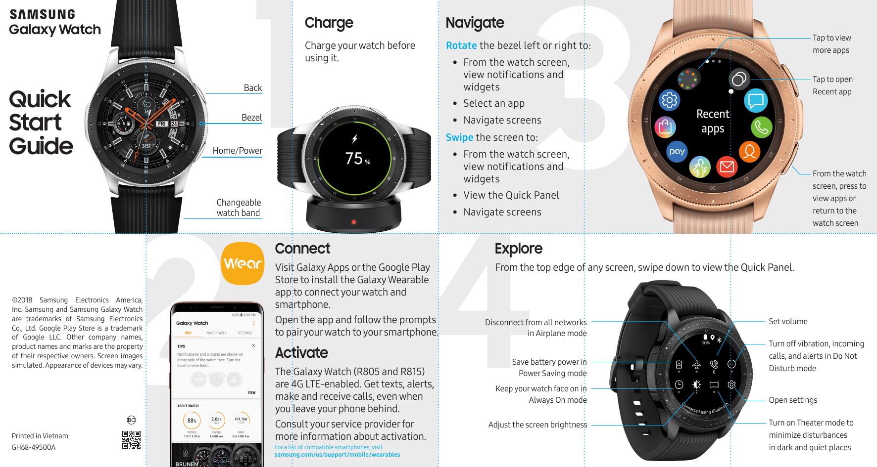Samsung Galaxy Watch R800 Manual Manual Guide