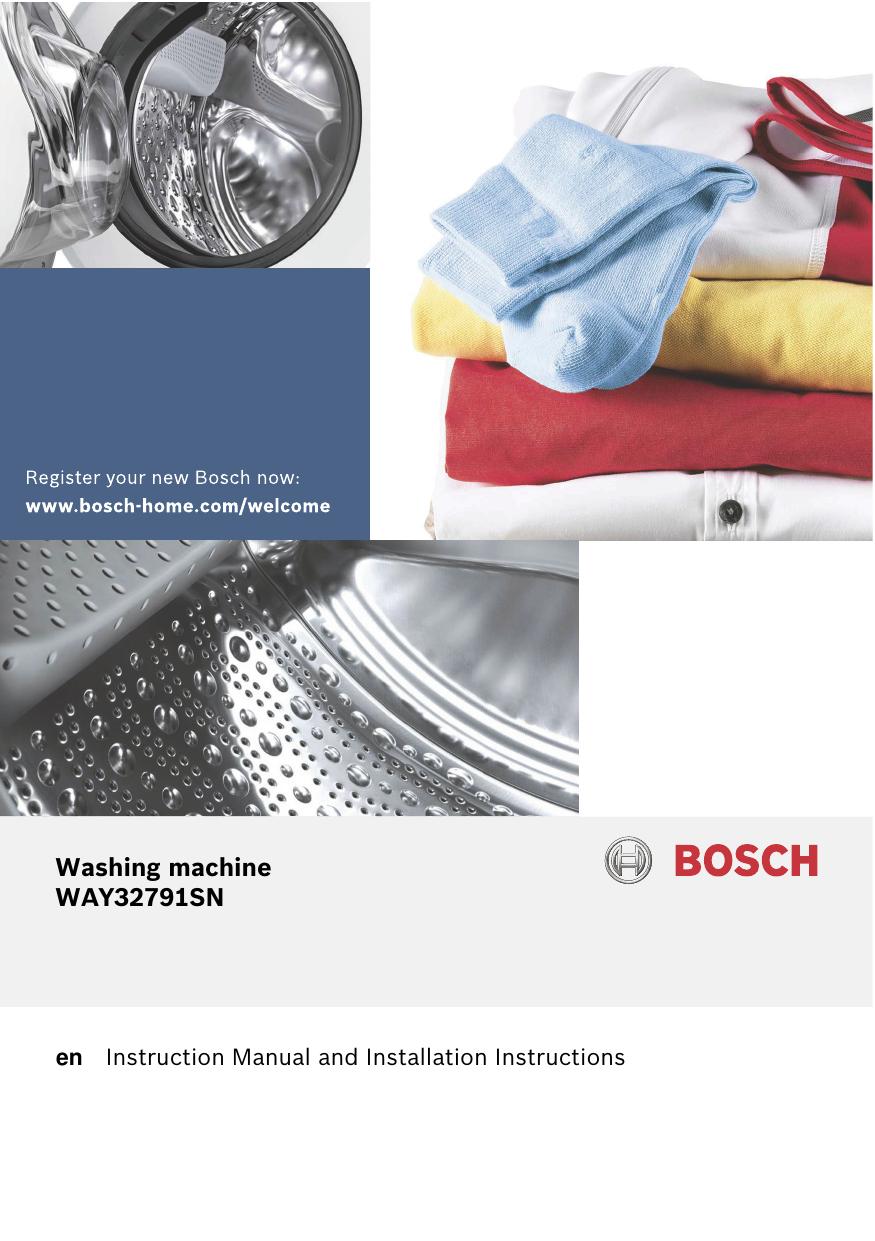 Bosch Waysn 28 Washing Machine Operating Installations Instructions Manualzz