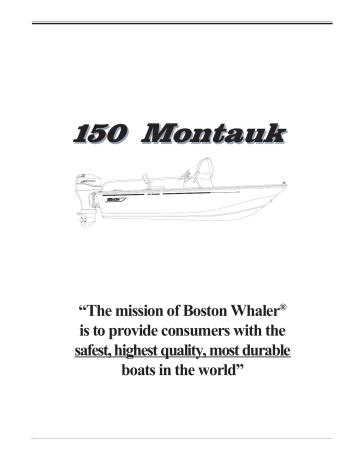 150MT_Safety.pdf. Boston Whaler 150 Montauk   150MT_Safety.pdf