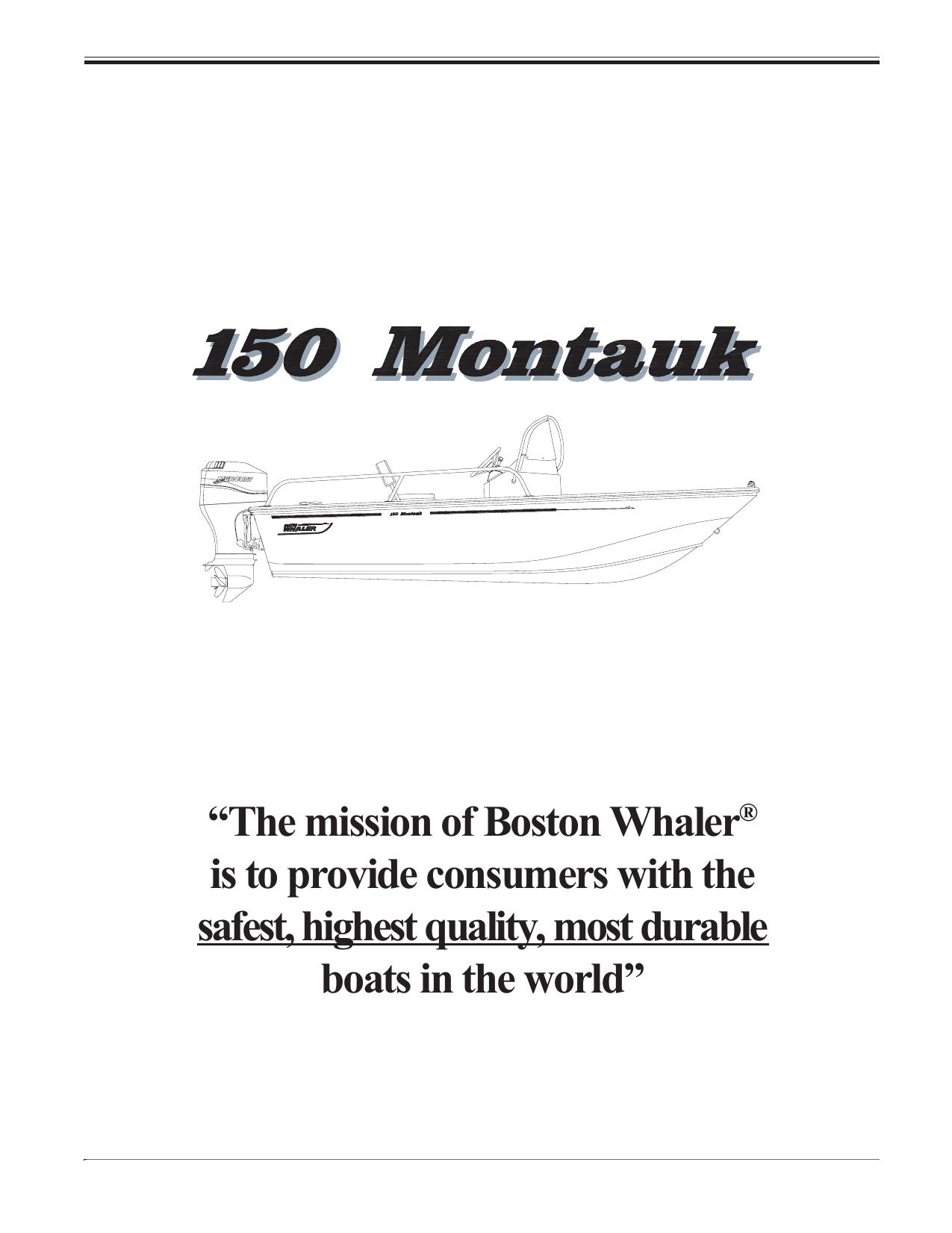 150MT_Care.pdf. Boston Whaler 150 Montauk | 150MT_Care.pdf