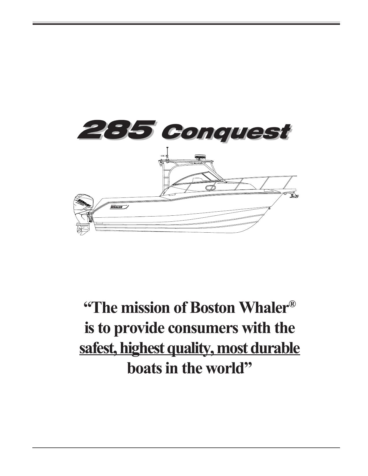 285CQ_Safety.pdf. Boston Whaler 285 Conquest   285CQ_Safety.pdf
