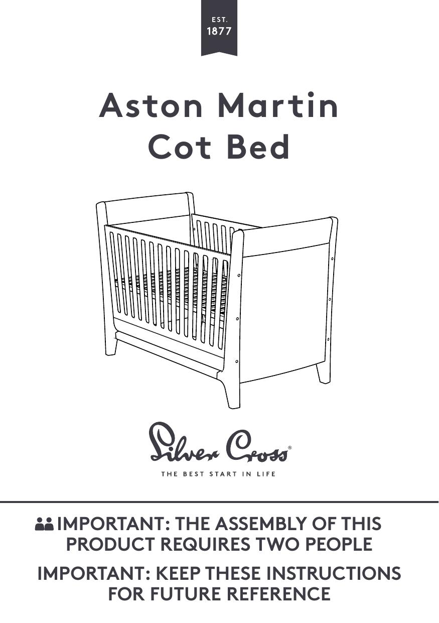 Silver Cross Aston Martin Cot Bed User Manual Manualzz