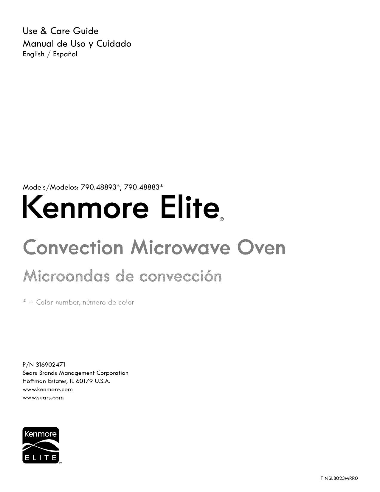 Kenmore Elite 79048893110 79048883110