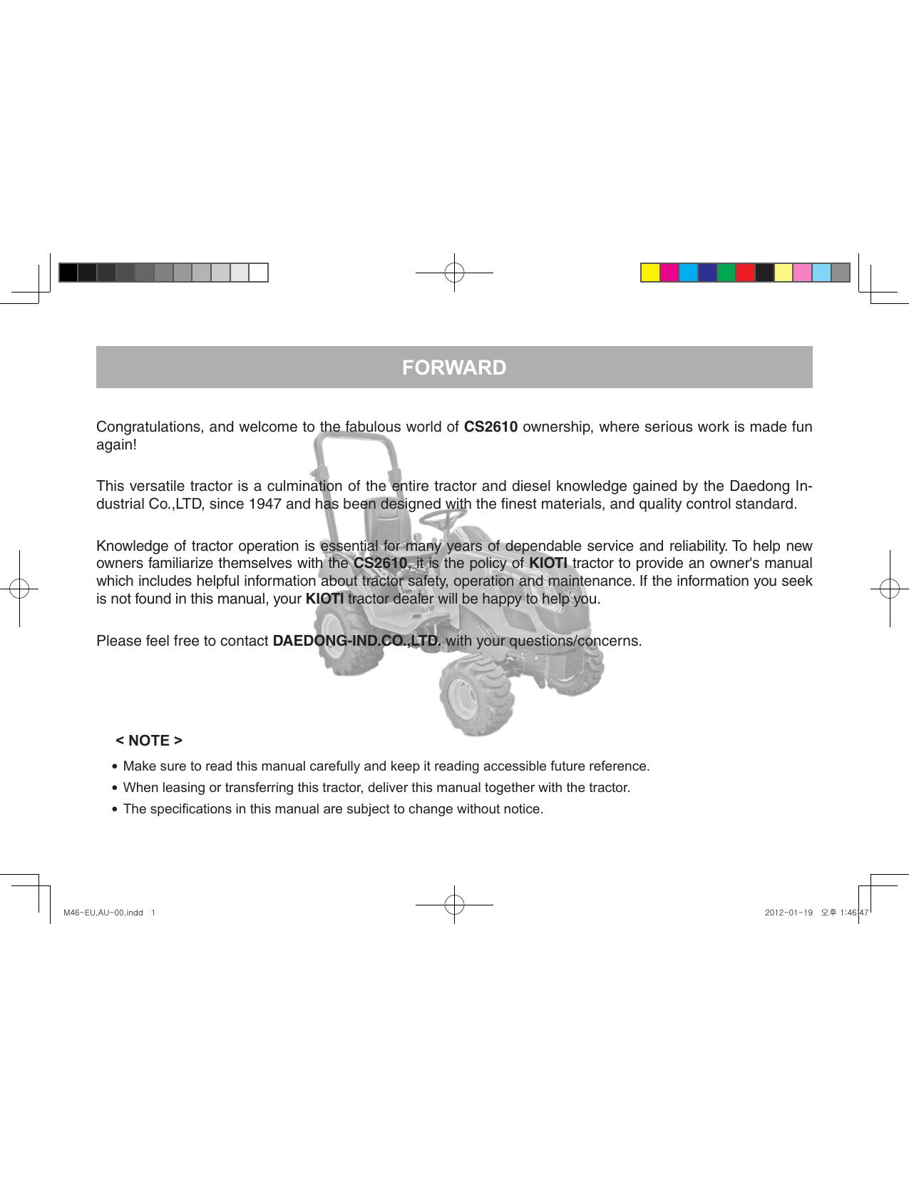 Kioti Cs2610 Manual Manualzz